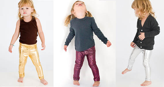 Shiny Lamé Leggings for Kids