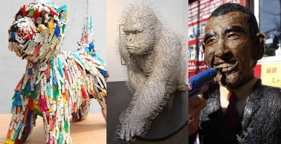 Incredible Sculptures Made Using Everyday Items