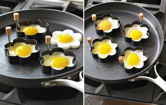 Daisy-Shaped Egg Fry Rings