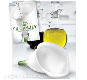 Pretty Fill-A-Lily Funnel Promises No More Ugly Spills