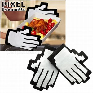 Pixel Oven Mitts Make Throwing Fireballs Easy