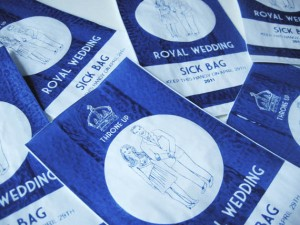 Sick of William & Kate? Use a Royal Wedding Sick Bag