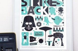 The Empire Strikes Back in Retro Scandinavian Style