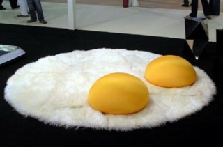 I Prefer My Throw Rugs Sunny Side Up