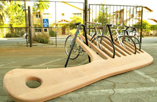 A Well Groomed Bike Rack