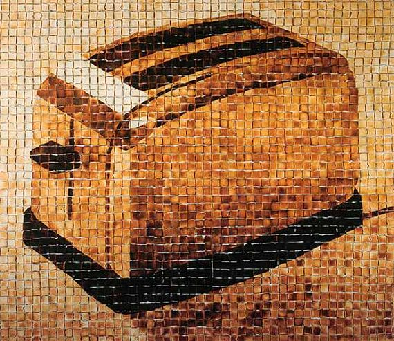 toaster made of toast A Toaster Mural Made of 2500 pieces of Toast
