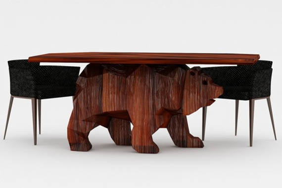 Check out this beary cool table incredible things for Awesome dining table designs