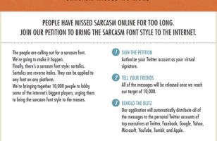 Sartalics To Bring Sarcasm To Life On The Web