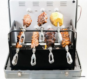Break Out the Barbie, I'm Here!: Portable Rotisserie Grill in a Briefcase