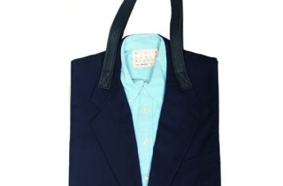 Lookin' Snazzy with the Upcycled Suit Tote