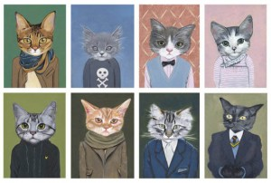 Cat Lady Decor: Cats In Clothes