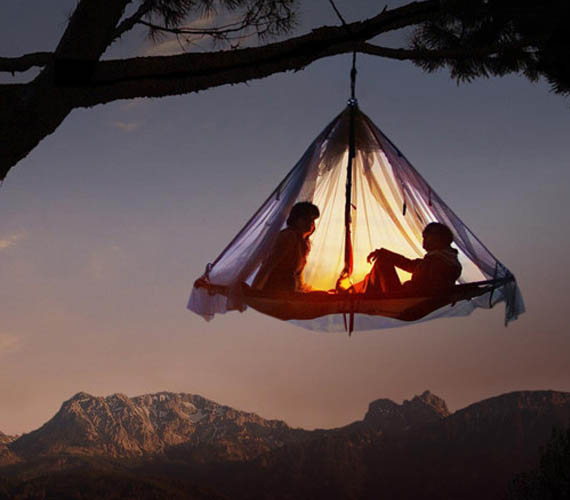 An Acrophobic's Worst Nightmare: Hanging Tents