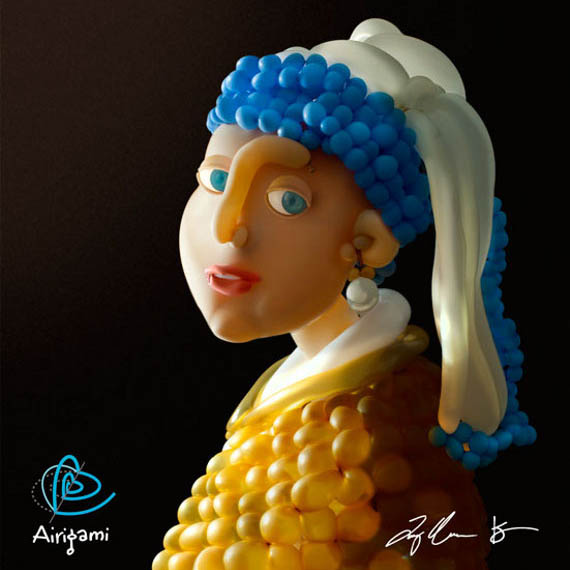 Famous works of art made out of balloons. See them here: