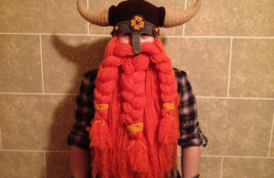 Crochet Viking & Warrior Beard/Hat Combo