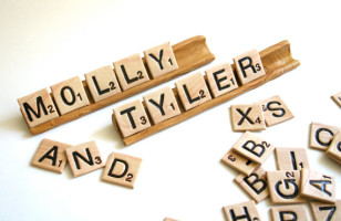 Edible Scrabble Tiles & Tile Racks