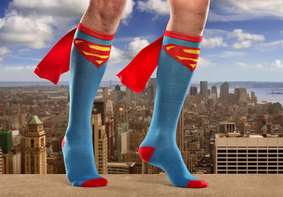 Run Faster Than A Speeding Bullet In Superman Caped Socks