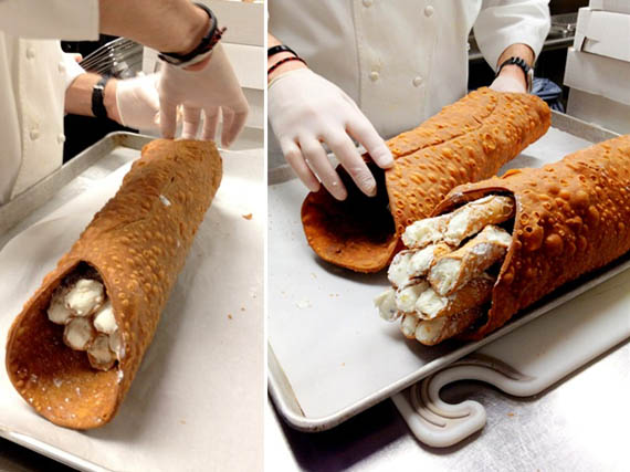 Woah, Meta: Giant Cannolo Filled With Cannoli