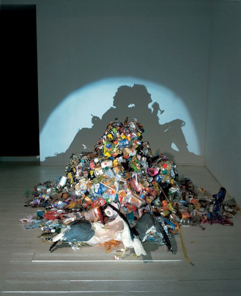 Creepy Trash Shadow Sculptures