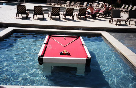 Play Pool In The Pool