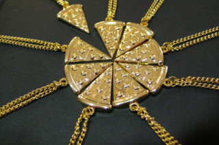 For Cheesy Friends: Pizza BFF Necklaces