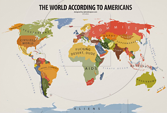 A Map of the World According to America