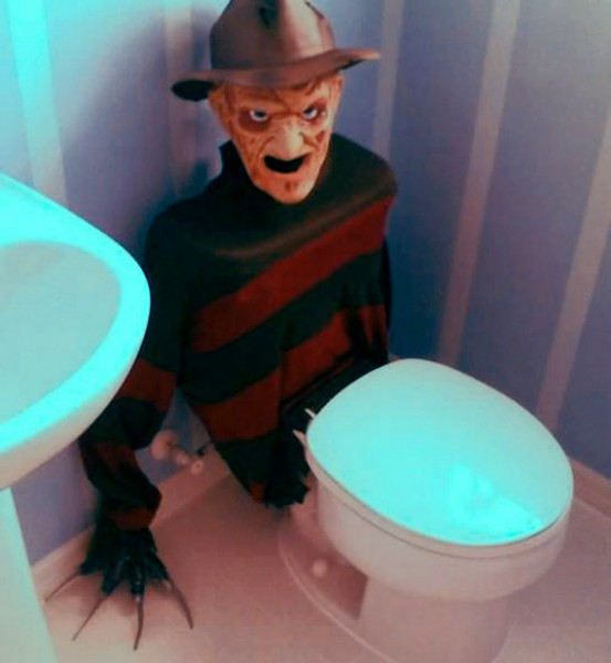 Terrifying Freddy Krueger Toilet Tank Cover