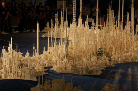 Map Of Japan Made of 1.8 Million LEGO Blocks