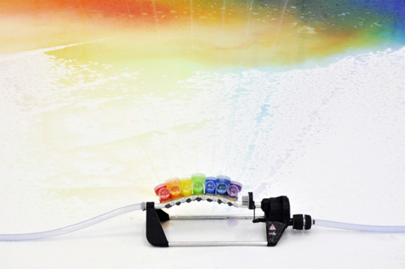 A Sprinkler That Spray Rainbows
