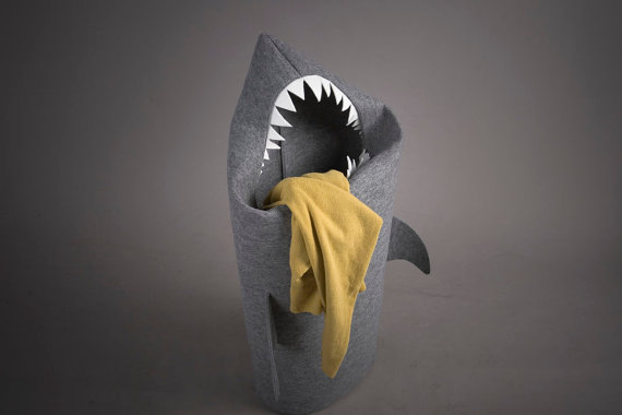 Smelly Scary Shark Laundry Basket