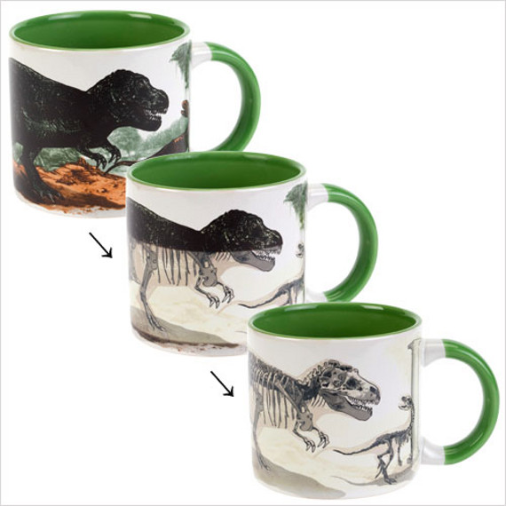 SAD: Heat Activated Disappearing Dino Mug