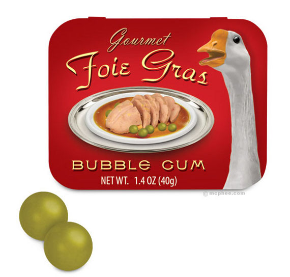 Chews For Richies: Foie Gras Bubble Gum