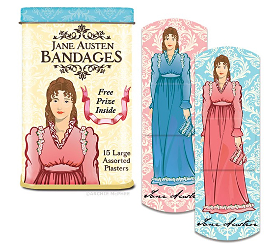 Jane Austen Bandages: Because Reading Is Dangerous