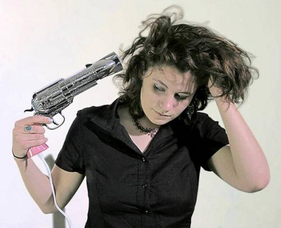Seems Dangerous: Revolver Hair Dryer