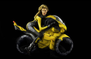 Motorcycles Made From Bodypainted Models