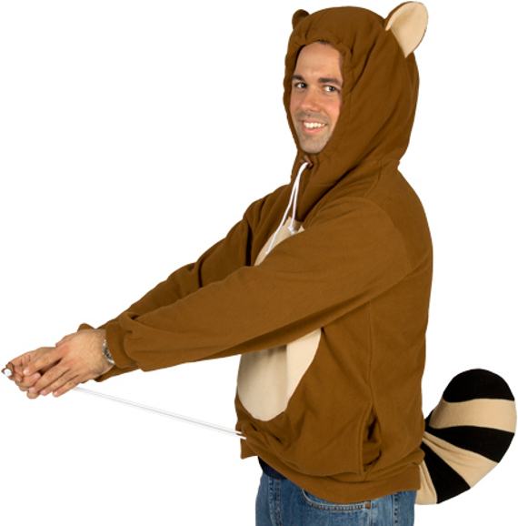 Racanooki Hoodie With Movable Tail