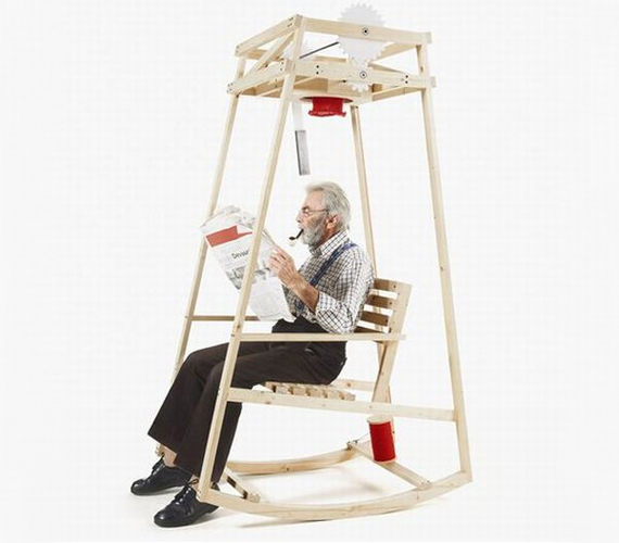 Teach Grandma To Multi-task with the Rocking-Knit Chair