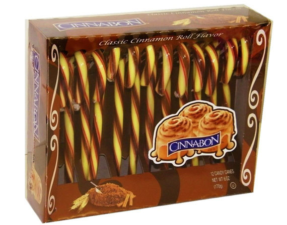 YES: Cinnabon Cinnamon Roll Candy Canes