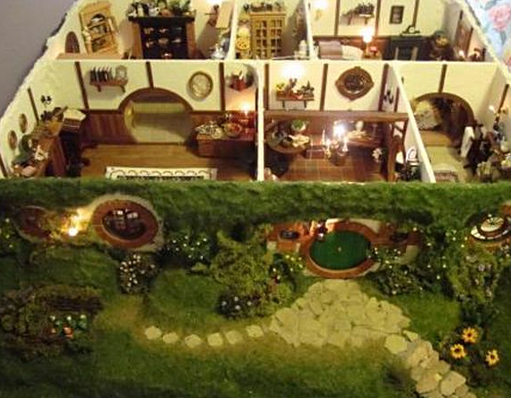 omg lotr hobbit dollhouse incredible things. Black Bedroom Furniture Sets. Home Design Ideas