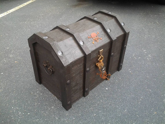 How To Make A Pirate Chest Cooler