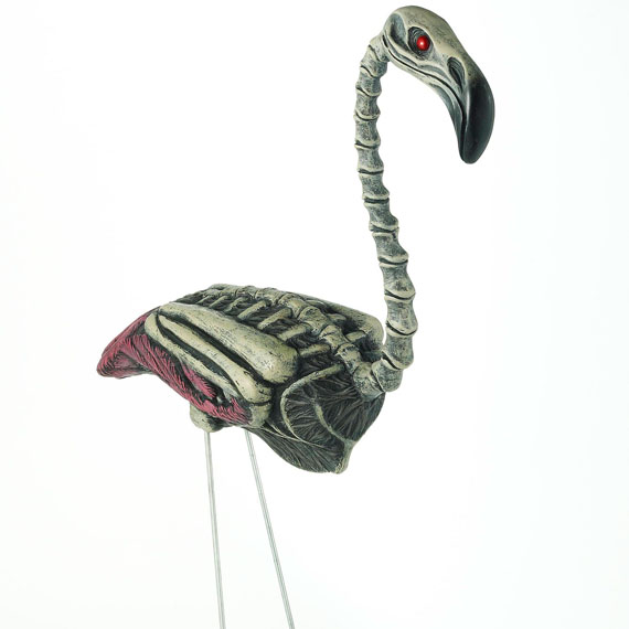 Zombie Flamingo LaAHHHHHwn Ornaments