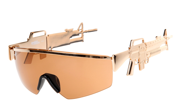 Badass Sunglasses With Assault Rifle Temples
