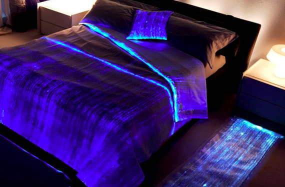 Ooh! Aah! Luminous Fiber Optics Bed Cover