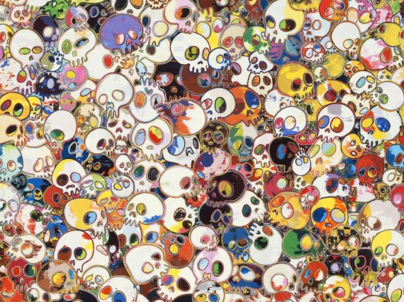 Murakami S Spirited Flowers Amp Skulls Exhibit For The