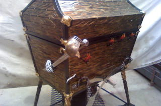 Avast! The Treasure Chest BBQ Grill