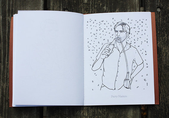 Here's A Jon Hamm Coloring Book