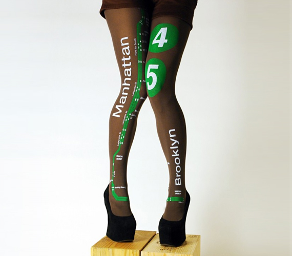 Tights With Maps of NYC Subway
