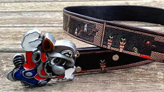 DO WANT: Super Mario Final Level Leather Belt