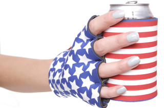Fingerless Gloves Koozy Holds Your Beer