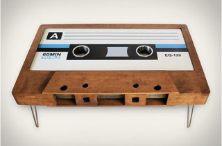 Here's A Cassette Tape Coffee Table