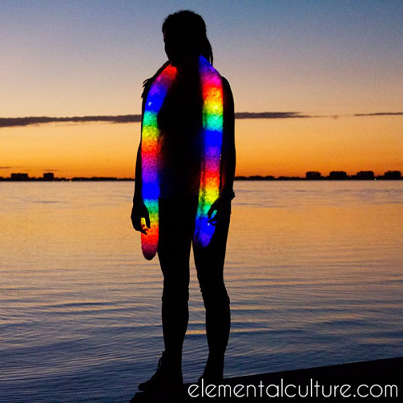 Keep Warm & Bright With This Glowy Scarf